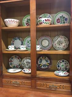 oak corner china cabinet